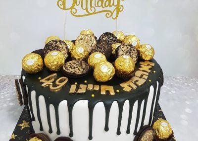 עוגת שוקולדים שחור לבן