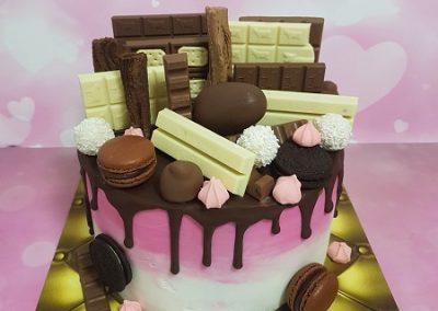 עוגת שוקולד עם שוקולדים