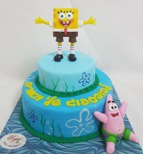 עוגת פטריק ובובספוג