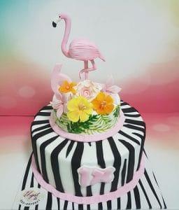 עוגת זברה פלמינגו