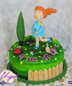 איילת מטיילת עוגה מעוצבת
