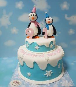 עוגת פינגווין מעוצבת